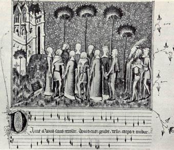 法兰西作为欧洲基督教音乐的策源地的优越地位;其